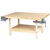"Diversified 2-Station Workbench w/ 2 Vises - 64""W x 28""D (Diversified Woodcrafts DIV-WW2-2V)"