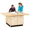 "Diversified 4-Station Workbench w/ 4 Vises - 64""W x 54""D (Diversified Woodcrafts DIV-WW32-4V)"