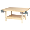 "Diversified 2-Station Workbench w/ 2 Vises - 64""W x 54""D (Diversified Woodcrafts DIV-WW4-2V)"