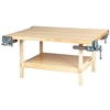 "Diversified 2-Station Workbench w/ 4 Vises - 64""W x 54""D (Diversified Woodcrafts DIV-WW4-4V)"