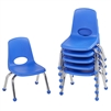 "FDP Stackable School Chair w/ Chrome Legs - 10"" Seat Height  (ECR4Kids FDP-10355)"
