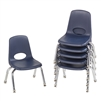 FDP Stackable School Chair w/ Chrome Legs - 10in Seat Height  (ECR4Kids FDP-10356)