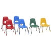 FDP Stackable School Chair w/ Chrome Legs - 10in Seat Height Assorted  (Factory Direct Partners FDP-10357-AS)