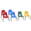 FDP Stackable School Chair w/ Chrome Legs - 10in Seat Height Assorted  (Factory Direct Partners FDP-10358-AS)