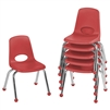 FDP Stackable School Chair w/ Chrome Legs - 12in Seat Height  (ECR4Kids FDP-10359)