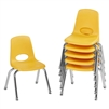 FDP Stackable School Chair w/ Chrome Legs - 12in Seat Height  (ECR4Kids FDP-10360)