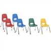 FDP Stackable School Chair w/ Chrome Legs - 12in Seat Height Assorted (ECR4Kids FDP-10361-AS)