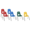 FDP Stackable School Chair w/ Chrome Legs - 12in Seat Height Assorted (ECR4Kids FDP-10362-AS)