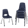 FDP Stackable School Chair w/ Chrome Legs - 14in Seat Height  (ECR4Kids FDP-10363)