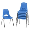 FDP Stackable School Chair w/ Chrome Legs - 14in Seat Height  (ECR4Kids FDP-10364)