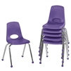 FDP Stackable School Chair w/ Chrome Legs - 16in Seat Height  (ECR4Kids FDP-10367)