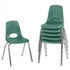 FDP Stackable School Chair w/ Chrome Legs - 16in Seat Height  (ECR4Kids FDP-10368)