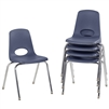FDP Stackable School Chair w/ Chrome Legs - 18in Seat Height  (ECR4Kids FDP-10371)