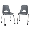 FDP Mobile Chair with Casters - 18in Seat Height  (ECR4Kids FDP-10372)