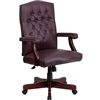 Flash Furniture Martha Washington Burgundy Leather Executive Swivel Chair<br>(FLA-801L-LF0019-BY-LEA-GG)