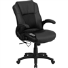Flash Furniture Massaging Black Leather Executive Office Chair<br>(FLA-BT-2536P-1-GG)