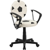 Flash Furniture Soccer Task Chair with Arms<br>(FLA-BT-6177-SOC-A-GG)