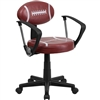 Flash Furniture Football Task Chair with Arms<br>(FLA-BT-6181-FOOT-A-GG)