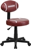 Flash Furniture Football Task Chair<br>(FLA-BT-6181-FOOT-GG)