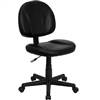 Flash Furniture Mid-Back Black Leather Ergonomic Task Chair<br>(FLA-BT-688-BK-GG)