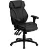 Flash Furniture High Back Black Leather Executive Office Chair with Triple Paddle Control<br>(FLA-BT-9835H-GG)
