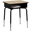 Flash Furniture Student Desk with Open Front Metal Book Box<br>(FLA-FD-DESK-GG)