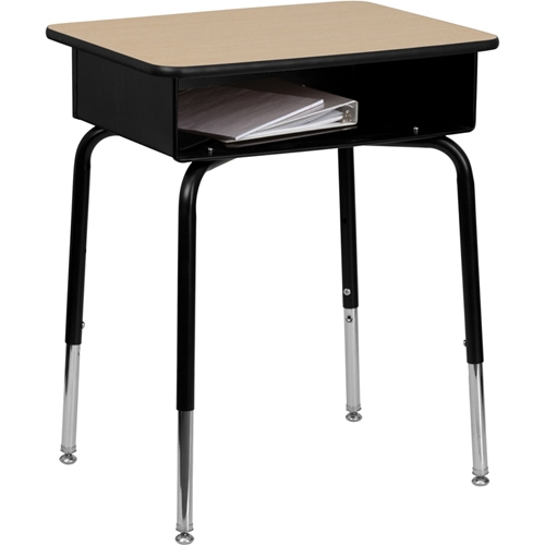 Flash Furniture Fla Fd Desk Gg Student Desk With Open Front Metal Book Box