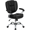 Flash Furniture Mid-Back Black Leather Task and Computer Chair<br>(FLA-GO-930-BK-GG)