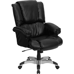 Flash Furniture High Back Black Leather OverStuffed Executive Office Chair<br>(FLA-GO-958-BK-GG)