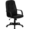 Flash Furniture High Back Black Glove Vinyl Executive Office Chair<br>(FLA-H8021-GG)