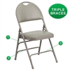 Flash Furniture HERCULES Series Extra Large Ultra-Premium Triple Braced Metal Folding Chair with Easy-Carry Handle<br>(FLA-HA-MC705AF-3-GG)