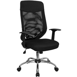 Flash Furniture High Back Mesh Office Chair with Mesh Fabric Seat<br>(FLA-LF-W952-GG)
