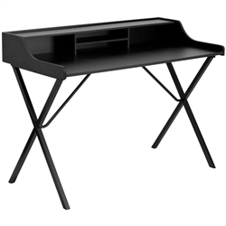 Flash Furniture Black Computer Desk with Top Shelf<br>(FLA-NAN-2124-GG)