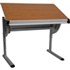 Flash Furniture Adjustable Drawing and Drafting Table with Pewter Frame<br>(FLA-NAN-JN-2433-GG)