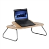 Flash Furniture Angle Adjustable Laptop Computer Table with Dark Natural Top<br>(FLA-NAN-JN-2779-GG)