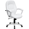 Flash Furniture Mid-Back White Leather Executive Office Chair<br>(FLA-QD-5058M-WHITE-GG)