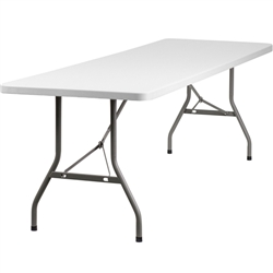 Flash Furniture 30''W x 96''L Plastic Folding Table<br>(FLA-RB-3096-GG)