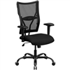 Flash Furniture HERCULES Series Big & Tall Black Mesh Office Chair with Arms<br>(FLA-WL-5029SYG-A-GG)