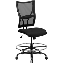 Flash Furniture HERCULES Series Big & Tall Black Mesh Drafting Stool<br>(FLA-WL-5029SYG-D-GG)