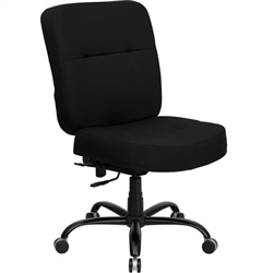 Flash Furniture HERCULES Series Big & Tall Black Fabric Office Chair with Extra WIDE Seat <br>(FLA-WL-735SYG-BK-GG)