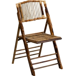 Flash Furniture American Champion Bamboo Folding Chair<br>(FLA-X-62111-BAM-GG)
