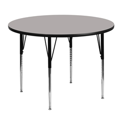 Flash Furniture 48'' Round Activity Table with Laminate Top and Standard Height Adjustable Legs<br>(FLA-XU-A48-RND-A-GG)