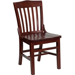 Flash Furniture HERCULES Series Mahogany Finished School House Back Wooden Restaurant Chair<br>(FLA-XU-DG-W0006-MAH-GG)