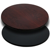 Flash Furniture 30'' Round Table Top with Black or Mahogany Reversible Laminate Top<br>(FLA-XU-RD-30-MBT-GG)