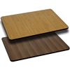 Flash Furniture 30'' x 48'' Rectangular Table Top with Natural or Walnut Reversible Laminate Top<br>(FLA-XU-WNT-3048-GG)