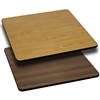 Flash Furniture 36'' Square Table Top with Natural or Walnut Reversible Laminate Top<br>(FLA-XU-WNT-3636-GG)
