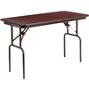 Flash Furniture Rectangular Mahogany Melamine Laminate Folding Banquet Table - 24'' x 48''<br>(FLA-YT-2448-MEL-WAL-GG)