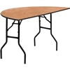 Flash Furniture 60'' Half-Round Wood Folding Banquet Table<br>(FLA-YT-WHRFT60-HF-GG)