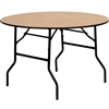Flash Furniture 48'' Round Wood Folding Banquet Table with Clear Coated Finished Top<br>(FLA-YT-WRFT48-TBL-GG)