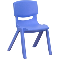 Flash Furniture Plastic Stackable School Chair with 12'' Seat Height<br>(FLA-YU-YCX-001-GG)